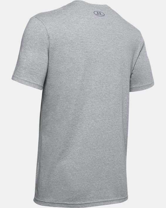 Men's UA Americana Big Logo T-Shirt, Gray, pdpMainDesktop image number 5